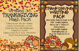 Thanksgiving Math and Writing Bundle Grades 3-5