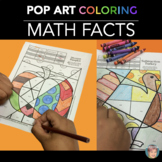 "Thanksgiving Activity - ""Pop Art"" Thanksgiving MATH Practice Coloring Sheets!"