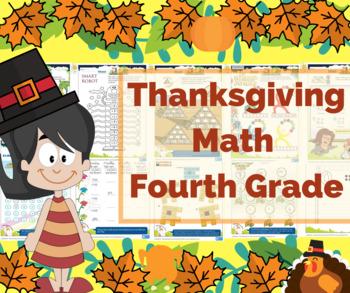 Thanksgiving Math for 4th Grade - Math Games - Math Centers