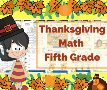 Thanksgiving Math for 5th Grade - Math Games - Math Centers