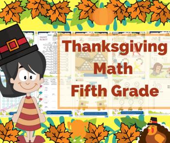 Thanksgiving Math for 5th Grade - Math Games - Math Centers