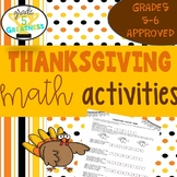 Thanksgiving Math for Fifth and Sixth Grades