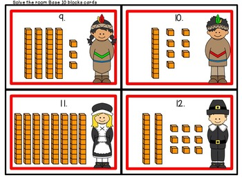 Thanksgiving Math for First Grade- Easy Prep Worksheets, Center Activites, Games