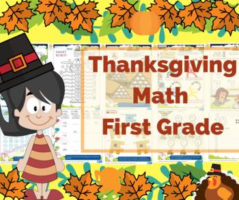 Thanksgiving Math for First Grade - Math Games - Math Centers