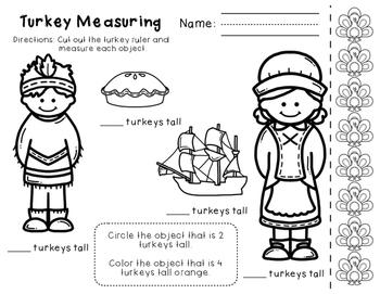 Thanksgiving Math for Kindergarten