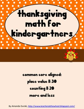 Thanksgiving Math for Kindergartners