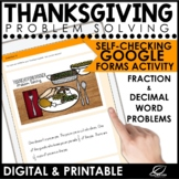 Thanksgiving Math for Middle School | Digital Problem Solving