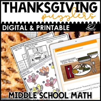 Thanksgiving Math for Middle School {No Prep!}