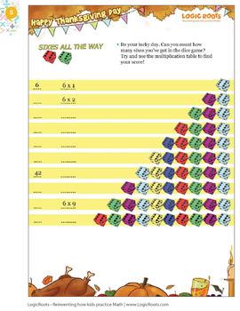 Thanksgiving Math for Second Grade / 2nd Grade - Math Games - Math Centers