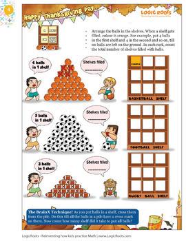 Thanksgiving Math for Third Grade / 3rd Grade - Math Games - Math Centers