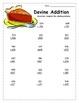 Thanksgiving Math for Upper Elementary