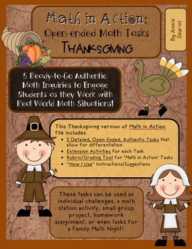 Thanksgiving Math in Action: Ready-to-Go Open-Ended Math Tasks Common Core