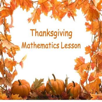 Thanksgiving Math Lesson:  Grades (K-2)