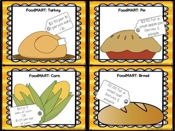 Thanksgiving Math with Coupon Task Cards