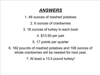 Thanksgiving Math with Frank and Kim