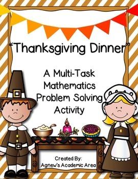 Thanksgiving Mathematics Problem Solving Activity