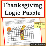 Thanksgiving Logic Puzzles For Gifted and Talented Students