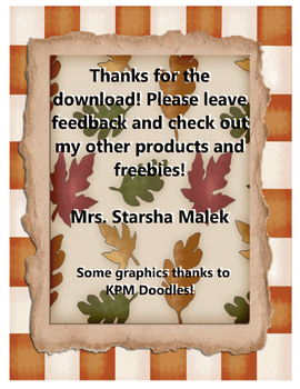 Thanksgiving Mayflower Craftivity