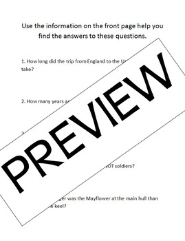 Thanksgiving Mayflower Math Problems: Problem Solving