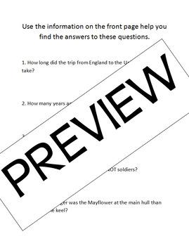 Thanksgiving Mayflower Math Problems Activity: Problem Solving