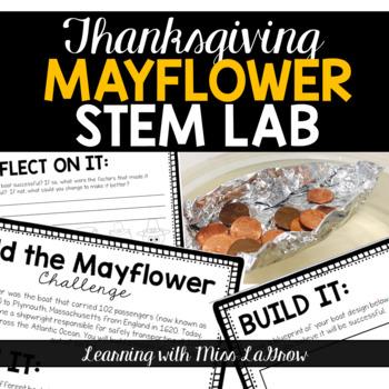 Thanksgiving Mayflower STEM Lab Challenge - Boat Buoyancy