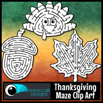 Thanksgiving Maze Clip Art