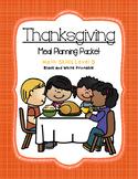 Thanksgiving Meal Planning B