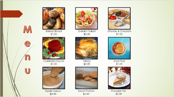 Thanksgiving Meal Planning Lesson