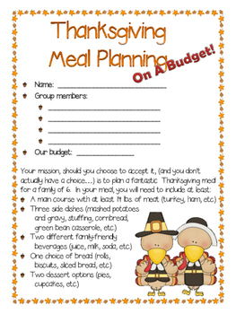 Thanksgiving Meal Planning On a Budget