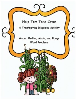 Thanksgiving Math Word Problems Activity: Mean, Median, Mo