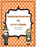 Thanksgiving Measurement and Line Plot Graphing