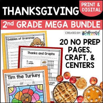 Thanksgiving Unit Bundle for Second Grade