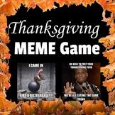 Thanksgiving Meme Game Activity