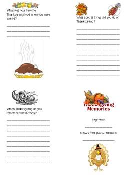 Thanksgiving Memories Book
