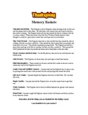 Thanksgiving Memory Baskets