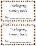 Thanksgiving Memory Book