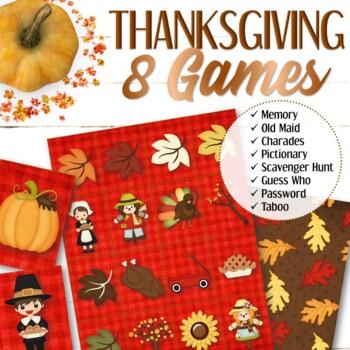 Thanksgiving Memory Game