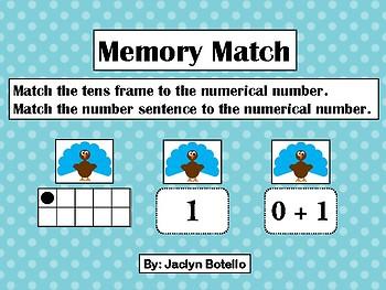 Thanksgiving Memory Match