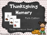 Thanksgiving Memory: Numbers Edition