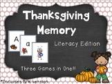 Thanksgiving Memory: Phonics Game