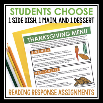 THANKSGIVING NOVEL SHORT STORY ASSIGNMENT FOR ANY READING