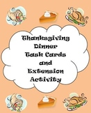 Thanksgiving Menu Math & Extension Activity