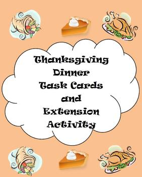 Thanksgiving Menu Math & Extension Activity