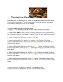 Thanksgiving Menu Parts of Speech