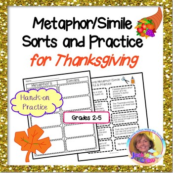 Thanksgiving Metaphors/Similes Sort and Practice