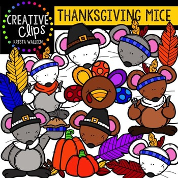 Thanksgiving Mice {Creative Clips Digital Clipart}