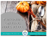 Thanksgiving Middle School Language