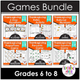 Thanksgiving Middle School Math Activities & Games BUNDLE
