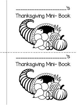 Thanksgiving Mini-Book