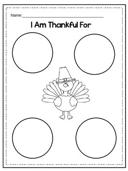 "Thanksgiving Mini Book ""I am thankful for..."""